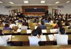 Foto Matteo Corner - LaPressecronacaMilano 4 09 2012 Esame di ammissione alla facoltà di medicina all'università statale di  Milano Nella Foto un momento del Test