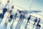 Multiethnic Group of Business People Airport Concept